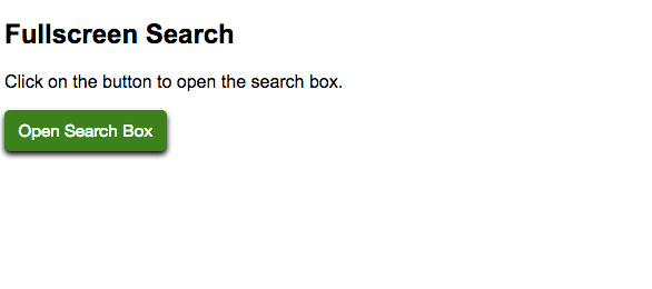 Full Screen Search Box