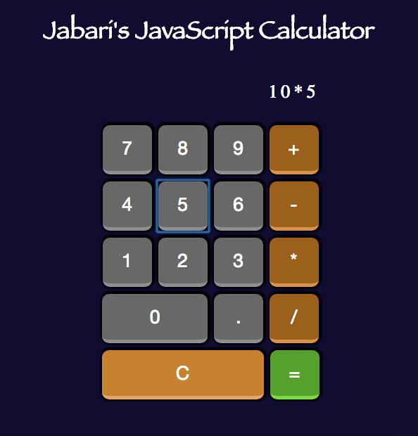 Jabari's JavaScript Calculator